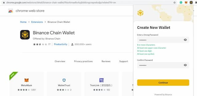 tạo ví BSC wallet